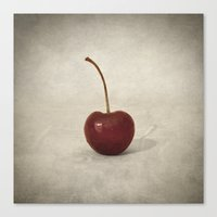 cherry Canvas Prints featuring Cherry by Taylan Soyturk