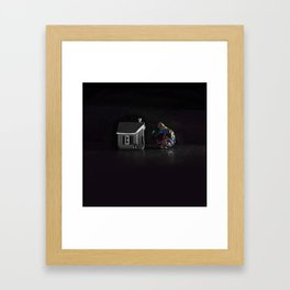 Half / Whole Framed Art Print