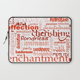 What Is Love Synonyms For Love Word Cloud Laptop Sleeve