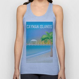 Cayman Islands - Skyline Illustration by Loose Petals Unisex Tank Top