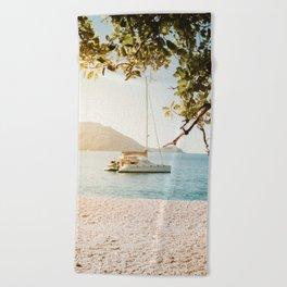 Fitzroy Island Catamaran | Cairns Australia Tropical Beach Sunset Photography Beach Towel