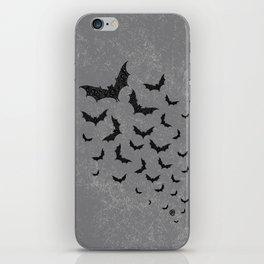 Swirly Bat Swarm iPhone Skin