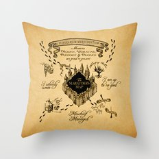 Marauders Map Throw Pillow
