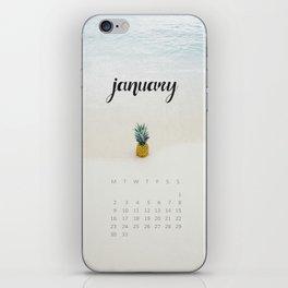 January 2017 Calendar iPhone Skin