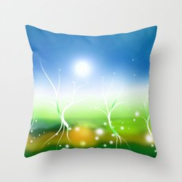 Eternal Spring ALiLuu Throw Pillow