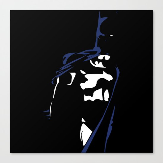 Dark Knight in Blue and White Canvas Print