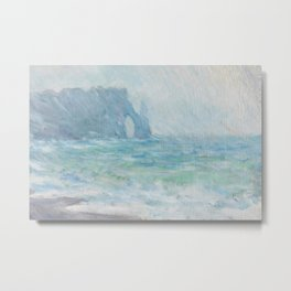 Monet Regnvær, Etretat, 1886 Metal Print