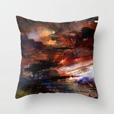 war and ruins Throw Pillow
