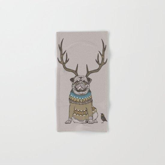 Deer Pug Hand & Bath Towel