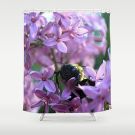 Busy Bee in Lilac Art Photography Shower Curtain