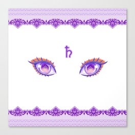 Sailor Saturn Eyes Canvas Print