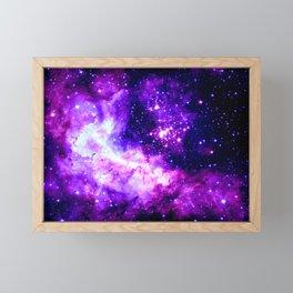 Purple Galaxy : Celestial Fireworks Framed Mini Art Print