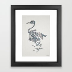 Noble death of chicken Framed Art Print