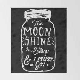 Moonshine (black) Throw Blanket