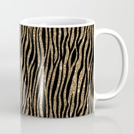 Black & Gold Glitter Animal Print Coffee Mug