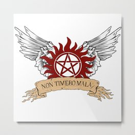 Supernatural NON TIMEBO MALA Symbol Wings Metal Print