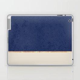 Navy Blue Gold Greige Nude Laptop & iPad Skin