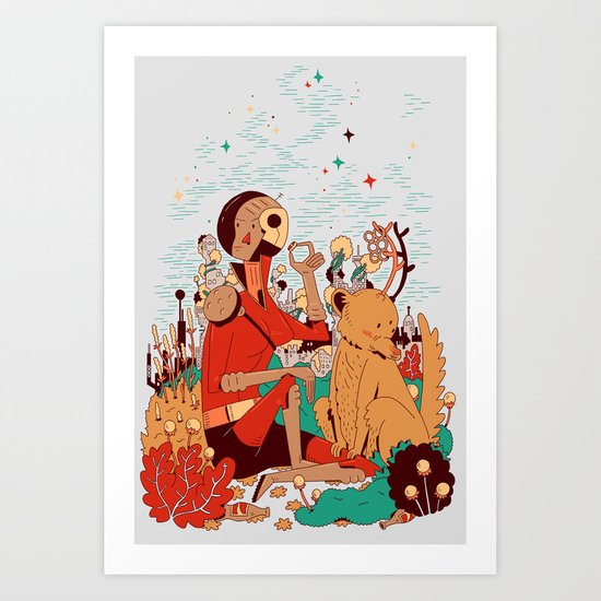 Overgrowth Explorer Art Print