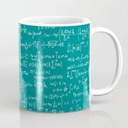 Math Equations // Teal Coffee Mug