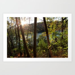 Lake Mohegan, CT Art Print