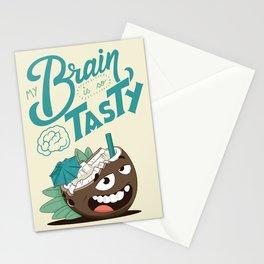 My brain is so tasty Stationery Cards