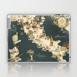 Gastronomic Map of Italy 1949 Laptop & iPad Skin