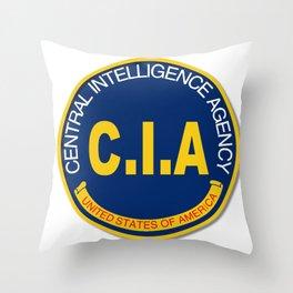 CIA Logo Mockup Throw Pillow