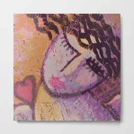 In Love Abstract Acrylic Painting Metal Print