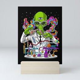 Alien Psychedelic Scientist Mini Art Print