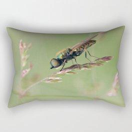 Green Soldier Fly Rectangular Pillow