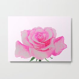 one pink rose Metal Print