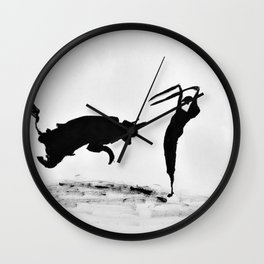 Bulls and bullfighters of Picasso II Wall Clock