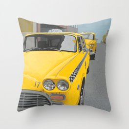 Taxi Stand Throw Pillow