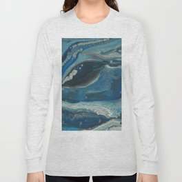 Water Dragon, Abstract Fluid Acrylic Painting Long Sleeve T-shirt