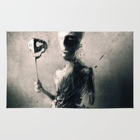 mask Area & Throw Rugs featuring Mask by Jarek Kubicki