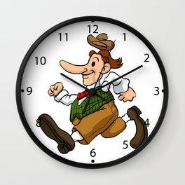 running man cartoon Wall Clock