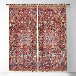 Antique Persian Kashan Dabir Rug Print Blackout Curtain