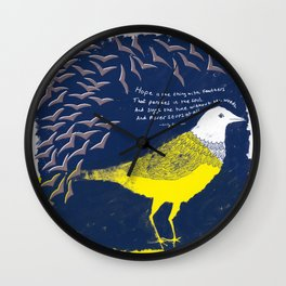 BIRD HOPE 2 Wall Clock