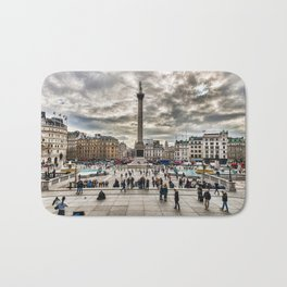 London Trafalgar Square art by @balazsromsics Bath Mat