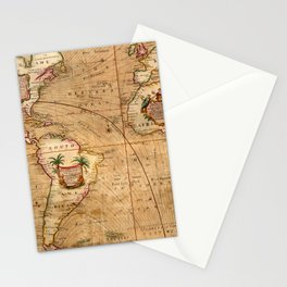 Map Of America 1701 Stationery Cards