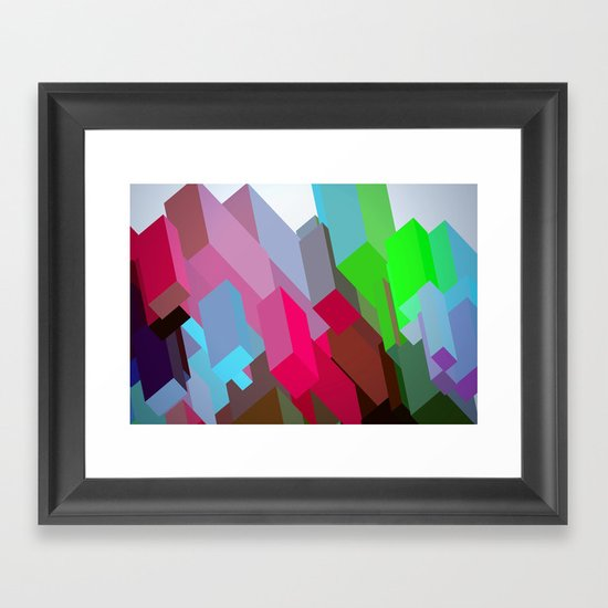 City 05. Framed Art Print