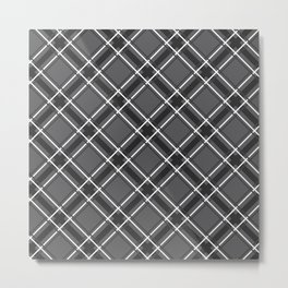 Sophisticated Plaid Pattern Metal Print