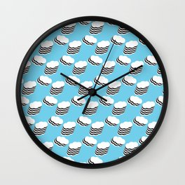 Layered clouds Wall Clock