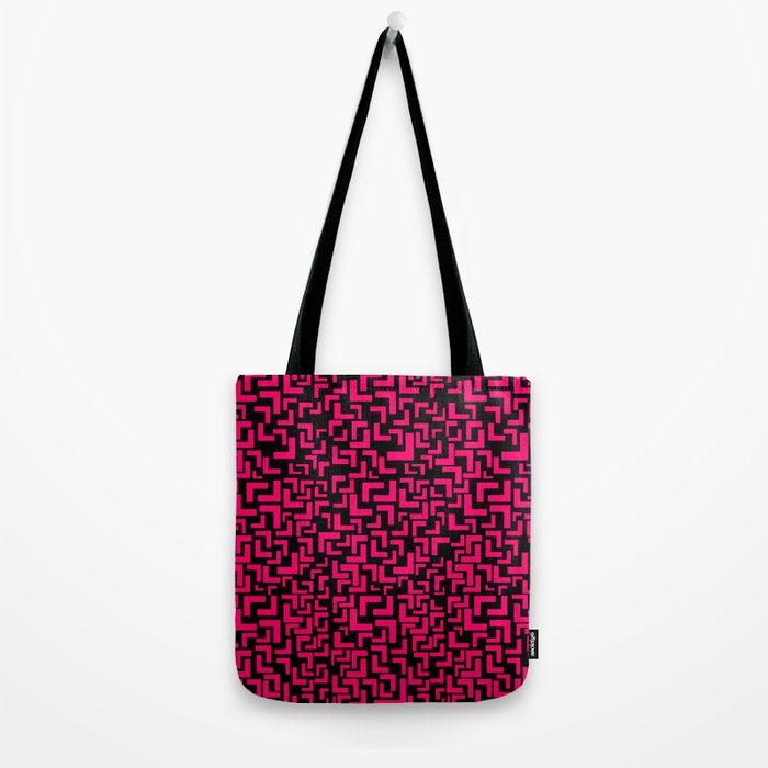Glitches in the Void, Pink Tote Bag
