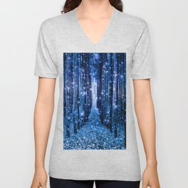 Magical Forest Bluest Blue Unisex V-Neck