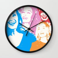 jessica lange Wall Clocks featuring Jessica Lange - Her smile is everything by BeeJL