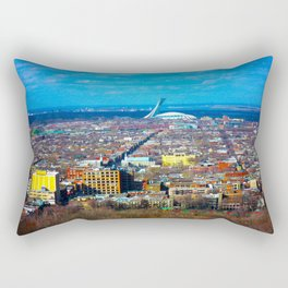 Montreal Skyline Rectangular Pillow