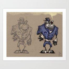 Bouncer Bot Art Print