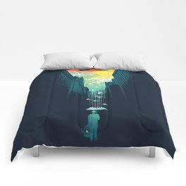 I Want My Blue Sky Comforters