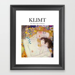 Klimt - The Three Ages of Woman Framed Art Print
